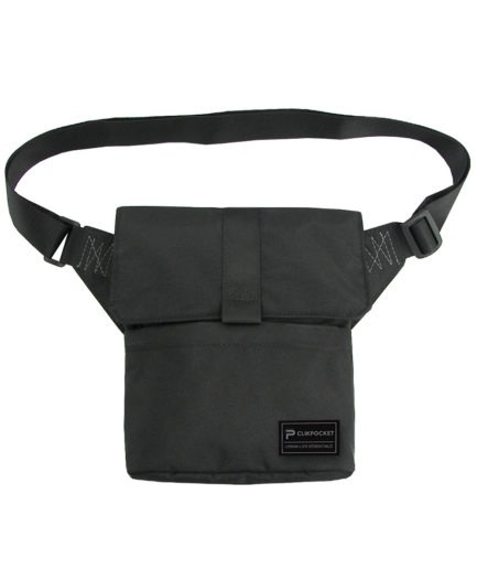 Photo produit sac pochette Clikpocket Check In noir de face
