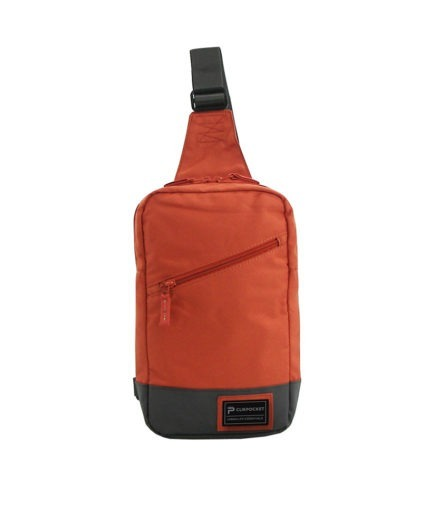 Photo produit sac bandoulière Clikpocket Downtown Pad tangerine de face