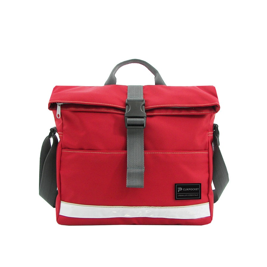 Photo produit sac multi-usages Clikpocket Ride On Bike rouge de face