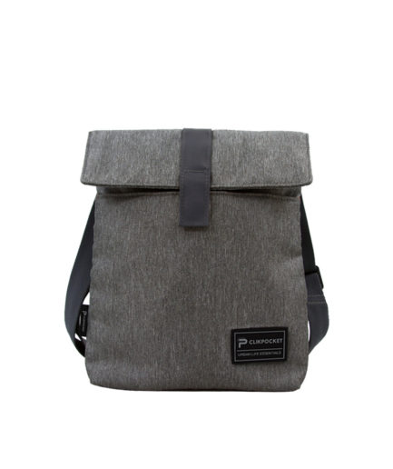 Photo produit sac bandoulière Clikpocket Baby Station Gris de face
